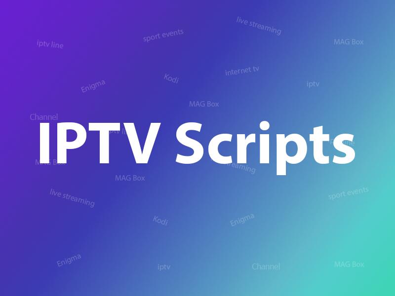 What is IPTV script or video format